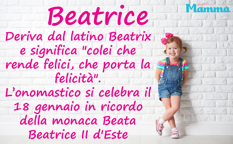 Beatrice Nome Per Bambina Pianetamamma It