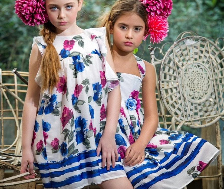 Abitini con stampa floral fucsia e blu