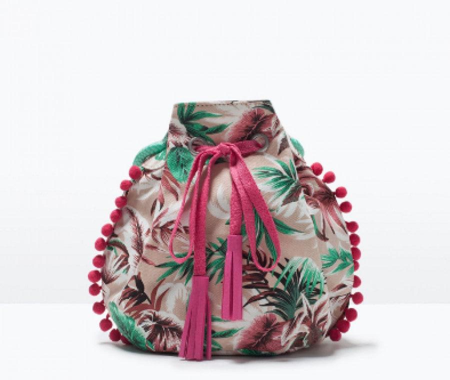 Borse per bambina | Borsa a sacco stampata Zara | Foto
