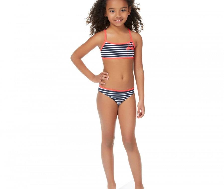 Bikini a righe blu e bianco Kiabi