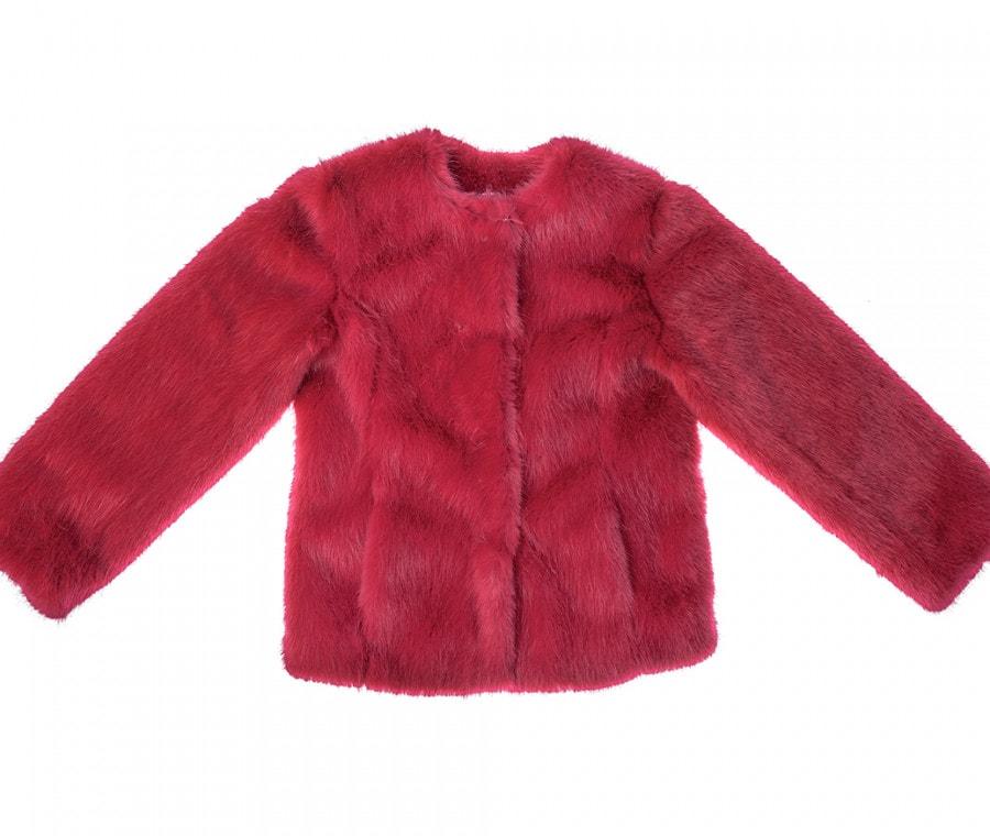 Eco pelliccia rosso