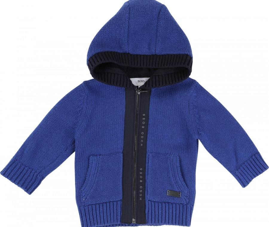 Moda bambino autunno inverno 2015 2016 | Felpa blu e nera Boss | Foto