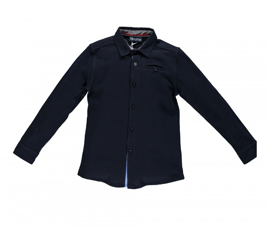 Camicia blu Brums