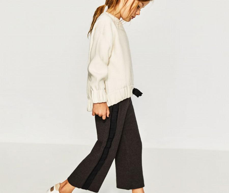 Culotte in maglia con fascia laterale Zara
