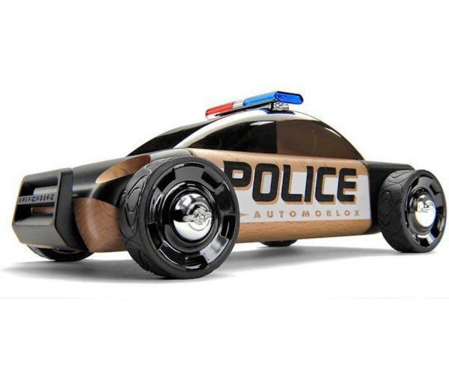 Giochi in legno per Natale | Automobile della polizia Automoblox | Foto
