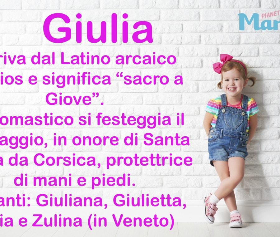 Giulia, nome per bambina