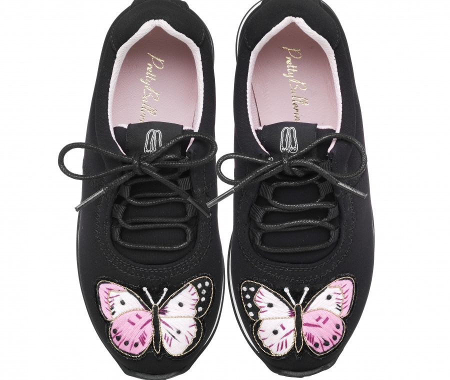 scarpa Pretty Ballerinas for Princess Malala con farfalla rosa