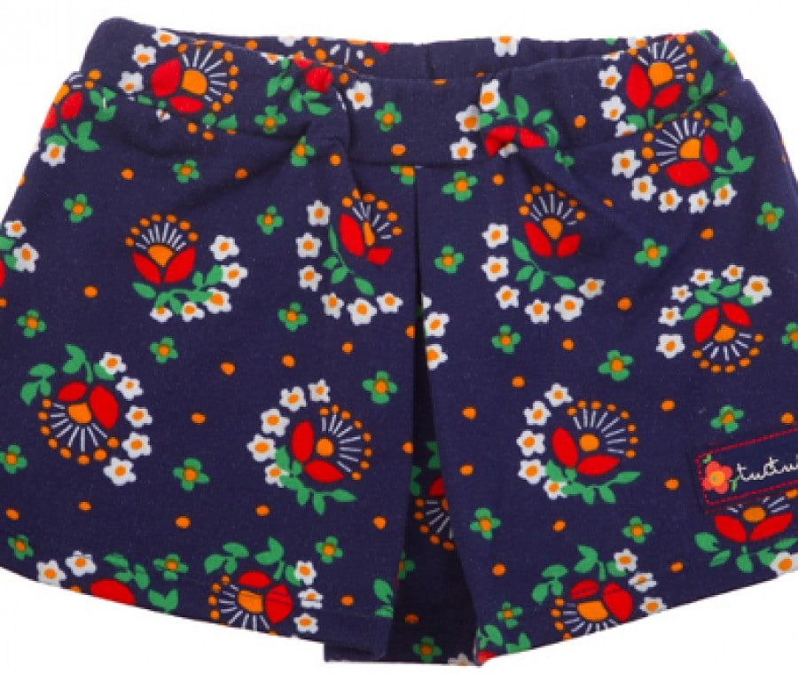 Tuc Tuc,collezione bambina autunno inverno 2015/2016 | Minigonna blu stampa floreale | Foto