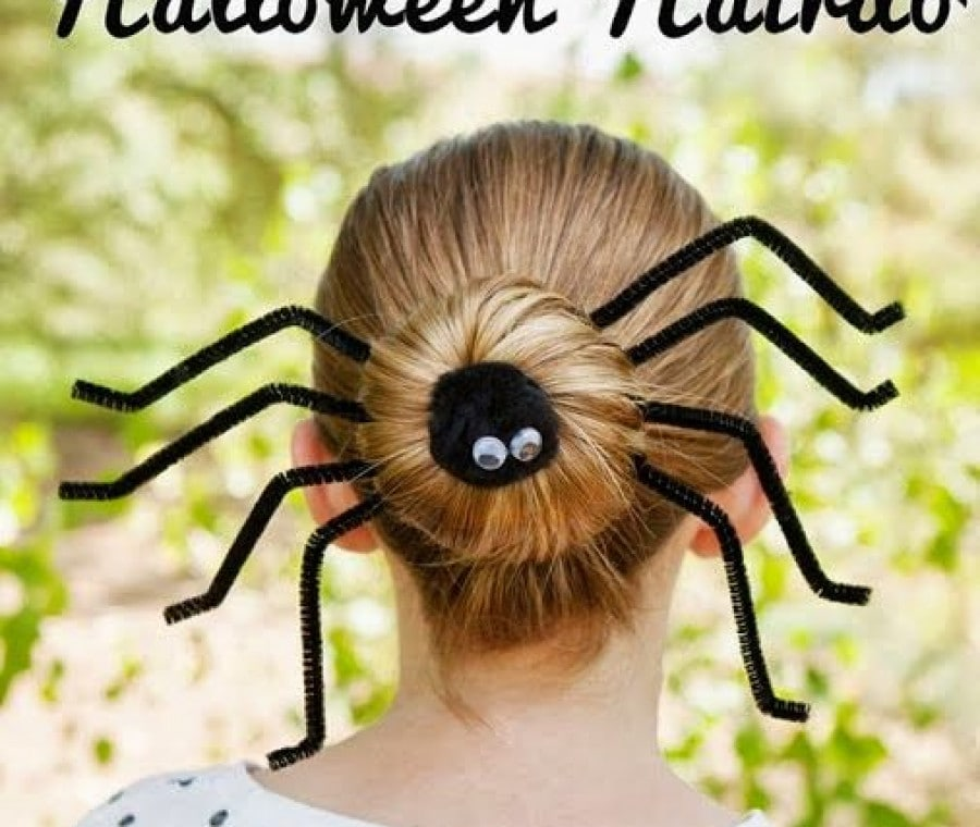 Acconciatura ragno Halloween (Fotoracconto)