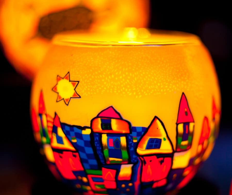 Lanterna dipinta a mano
