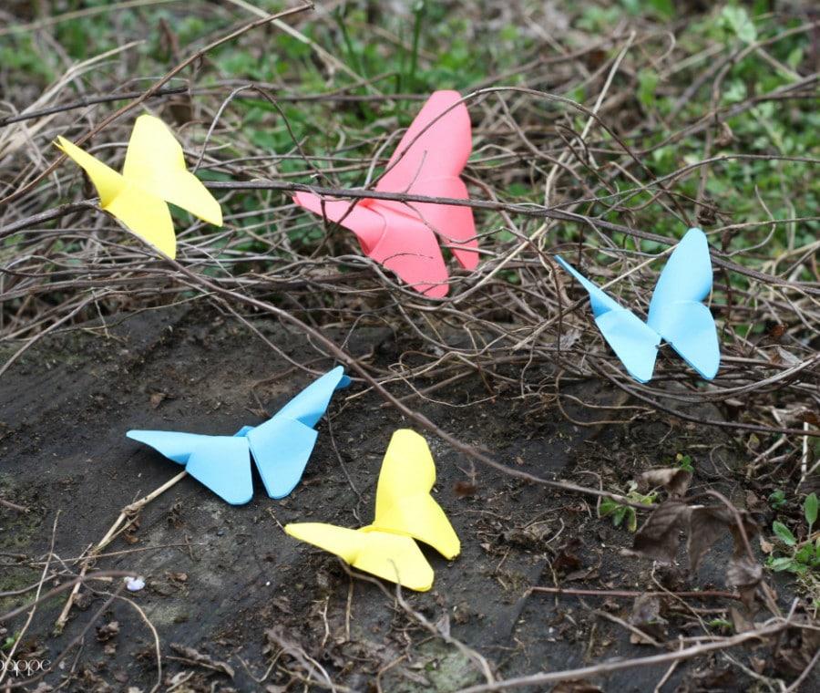 Farfalline in origami