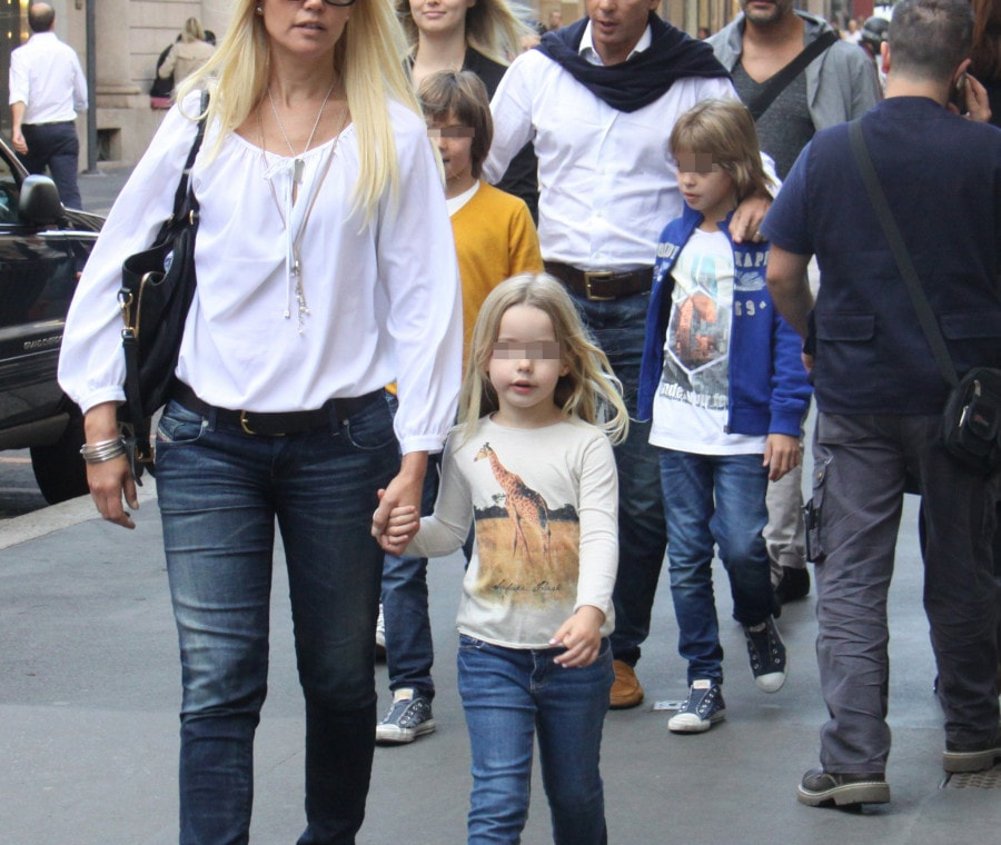 Alejandro Gravier, Valeria Mazza a passeggio con i figli
