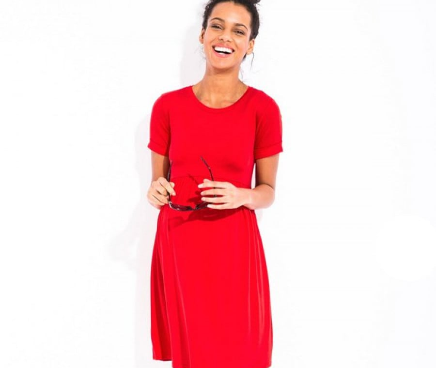 Abiti premaman online economici | Vestito corto rosso Envie de Fraises | Foto