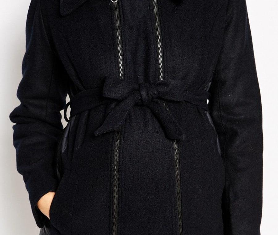 Cappotti e giacche premaman   Cappotto con cintura nera Asos   Foto