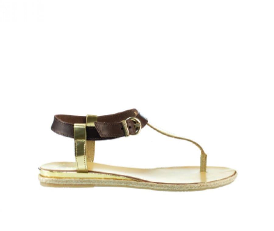 Scarpe comode per future mamme | Sandali dorati con cinturino in cuoio US Polo | Foto