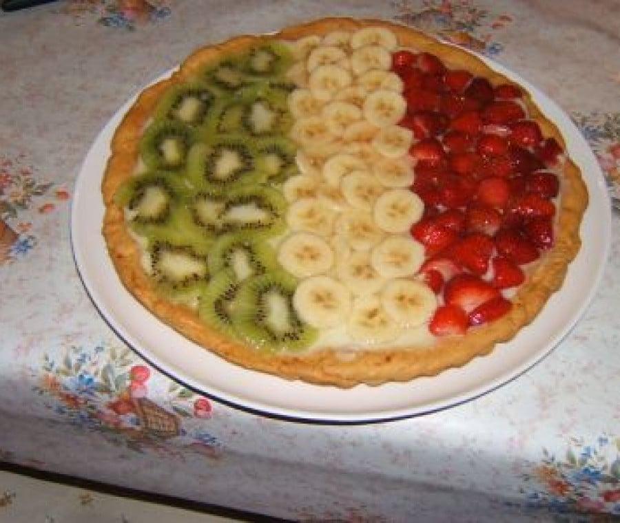 crostata di frutta tricolore