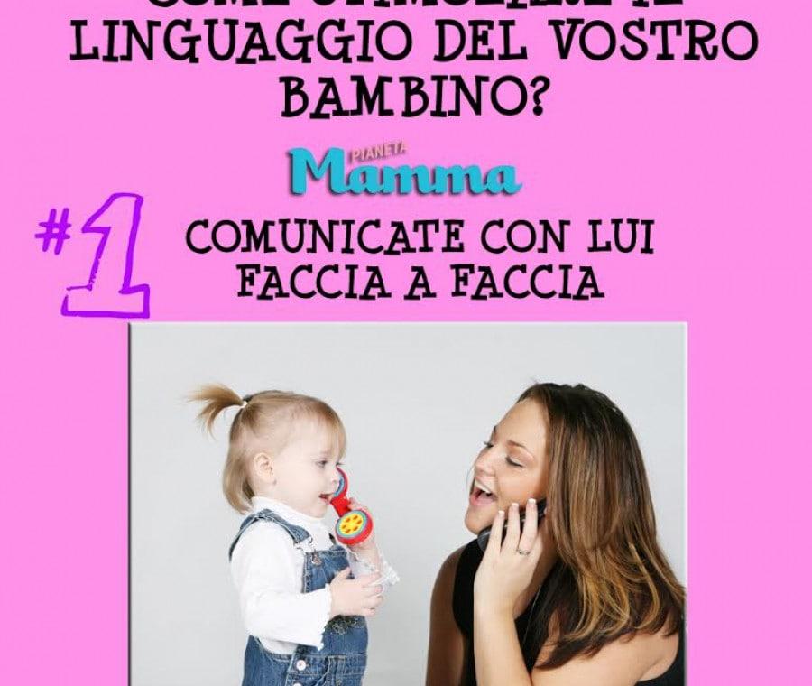 Come stimolare il linguaggio del bambino | Comunicate con lui faccia a faccia| Foto